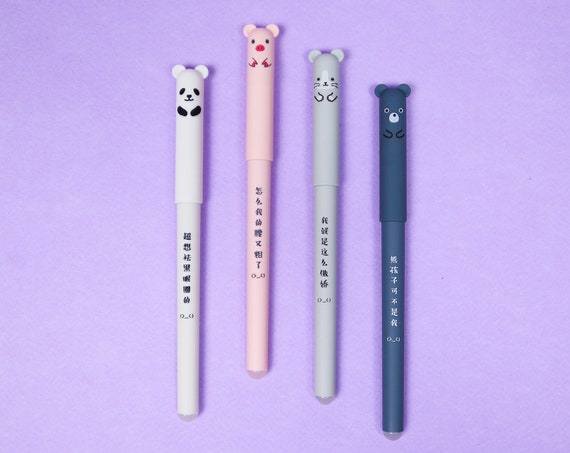 Moomins 0.38mm Dark Grey Frixion Gel Pen
