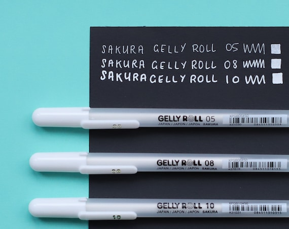 Sakura Gelly Roll White Gel Pen 05 / 08 / 10 Opaque White Jelly Pen