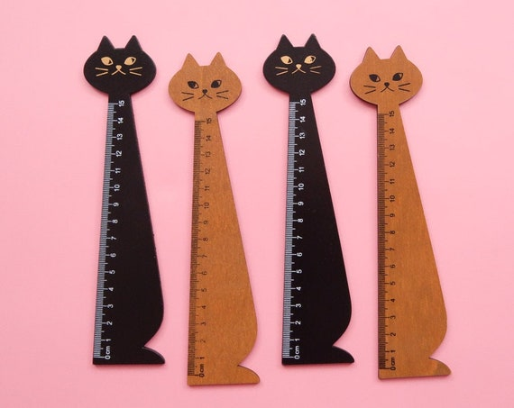 Wooden Kitty Ruler - 15cm