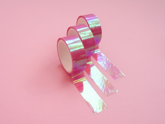 Holographic Pink Tape