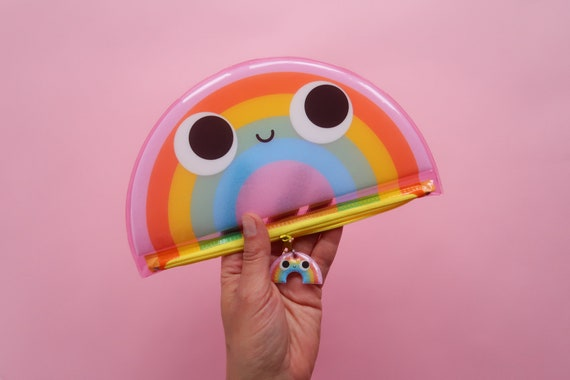 Cute Rainbow Puff Pencil Case