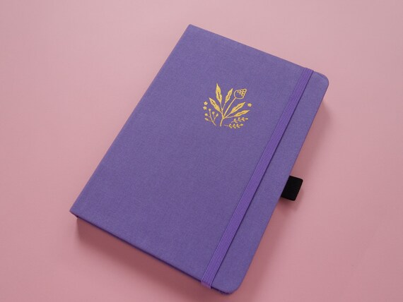 Archer & Olive Ultra Thick 160gsm Paper Dot Grid Journal - Lilac Floral