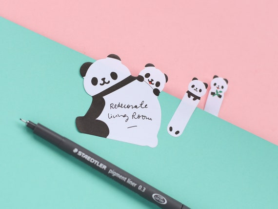 Big and Small Panda Sticky Page Markers