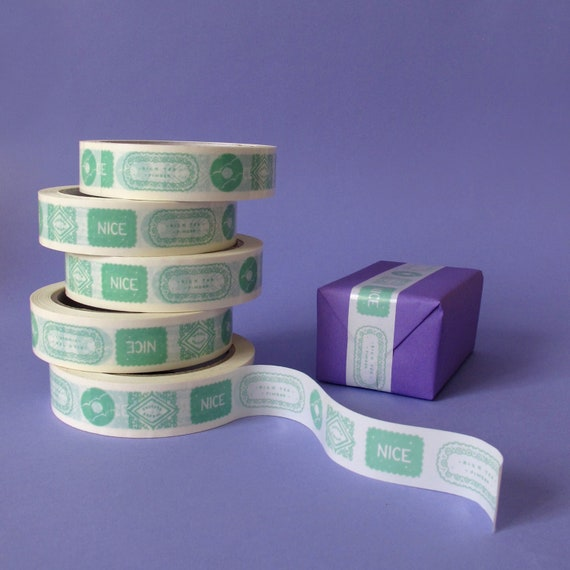 Biscuits Vinyl Tape - Mint Green