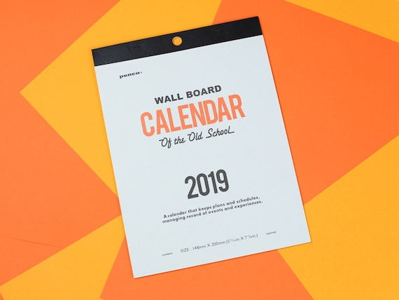 2019 Old School Wall Board Calendar