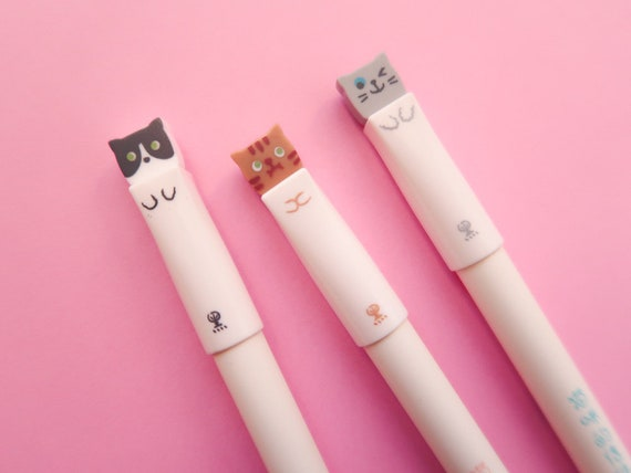 Cute Kitty 0.38mm Black Gel Ink Pen
