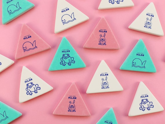 Milan Animal Friends Triangular Eraser