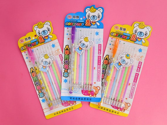 Interchangable Milky Rainbow Gel Pen Set