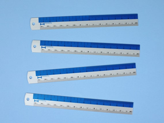 Hightide Bright Blue Metal Mini Metal Ruler - 15cm