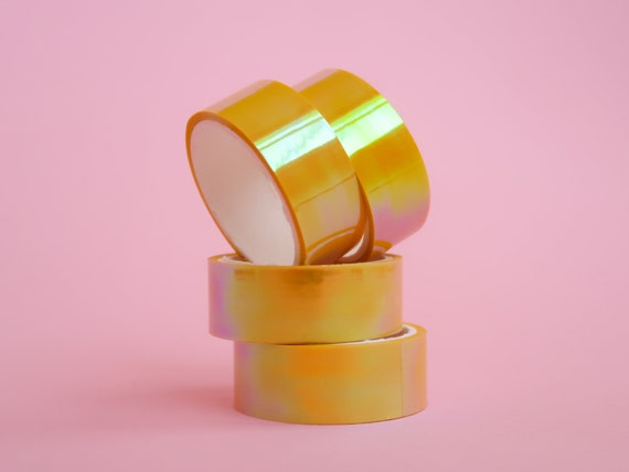 Holographic Yellow Tape