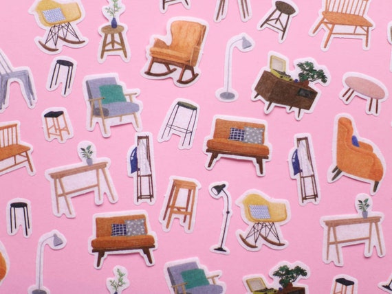 Mid Century Washi Stickers