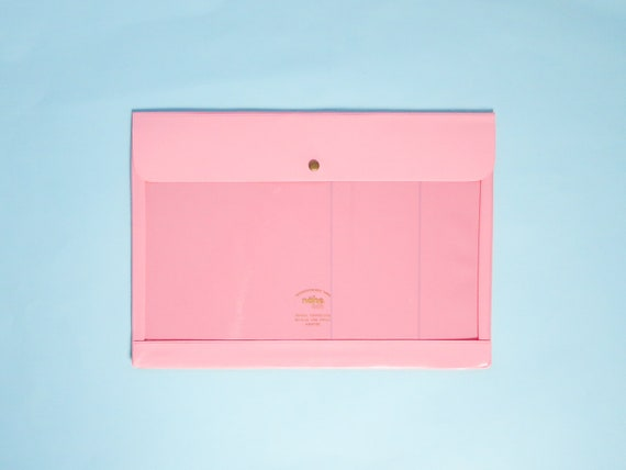 Nahe / Hightide Vinyl Stationery Pouch - Large Pink