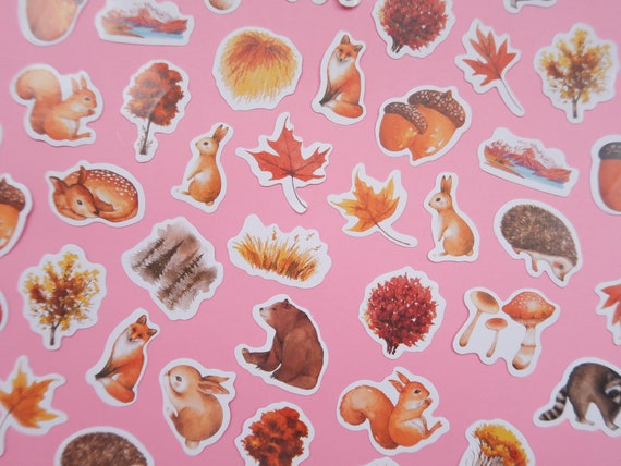 Woodland Nature Paper Stickers