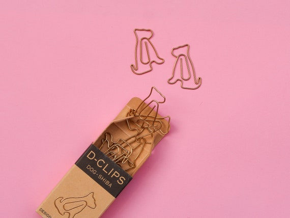 Midori Golden Puppy Paper Clips