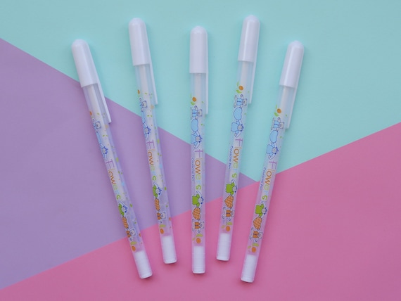 White 0.8mm Gel Pen
