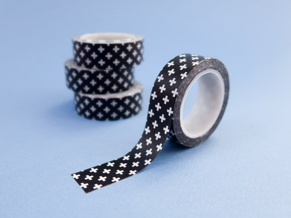 Monochrome Crosses Washi Tape
