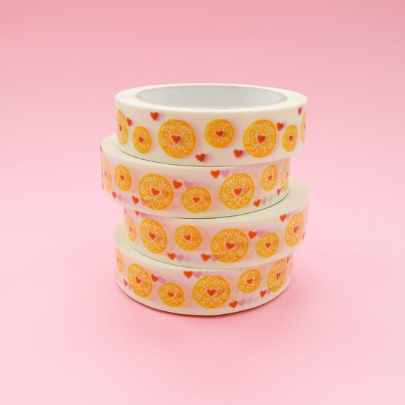 Jammy Hearts Biscuit Deco Tape