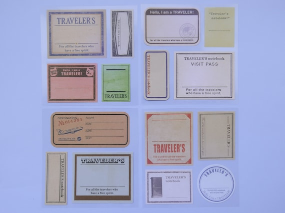 Travel Stamp Paper Stickers