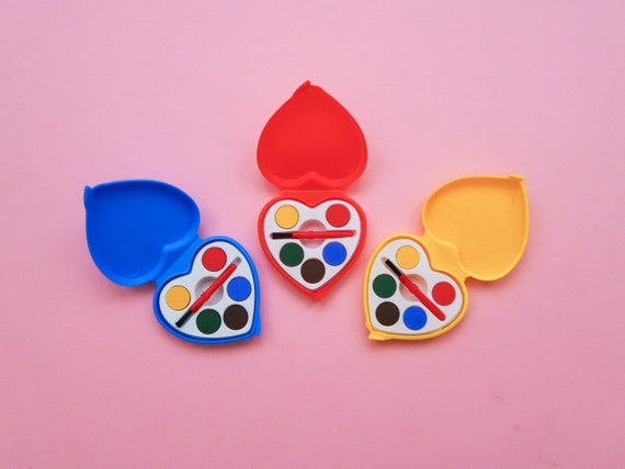 Mini Heart Watercolour Paint Set