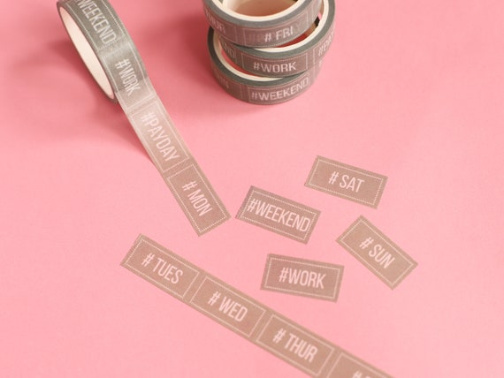 Tearable Weekday Washi Tape