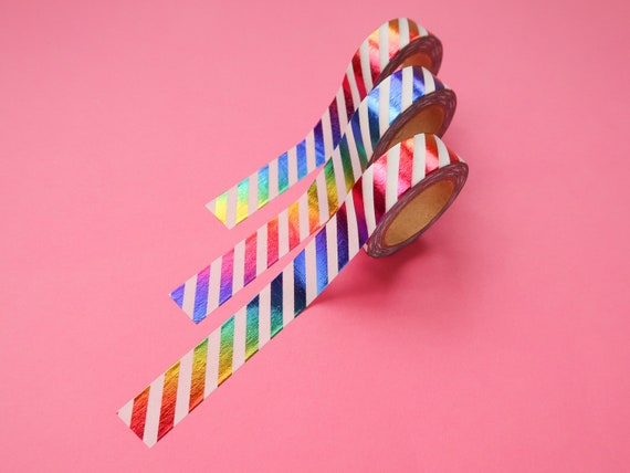Metallic Rainbow Stripe Washi Tape