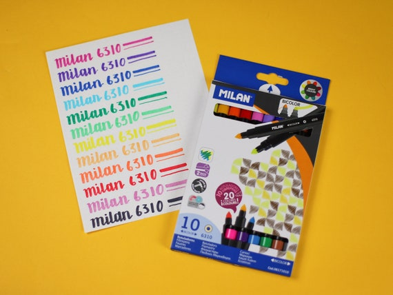Milan 6310 Dual Tip Calligraphy Markers