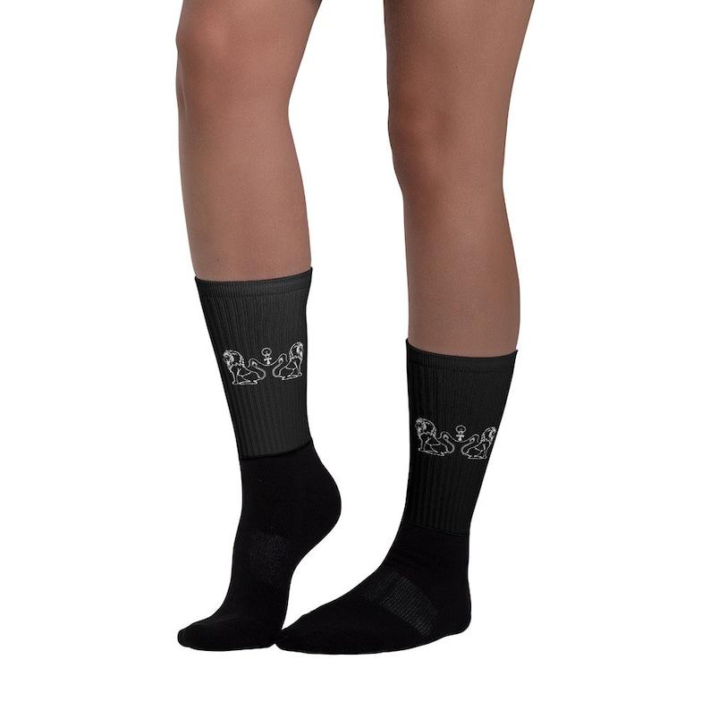 Egyptian Lion Ra Anhk Socks