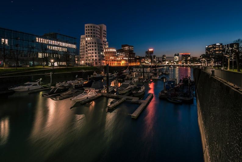 Dusseldorf Media Harbour Photo Print Canvas image 0