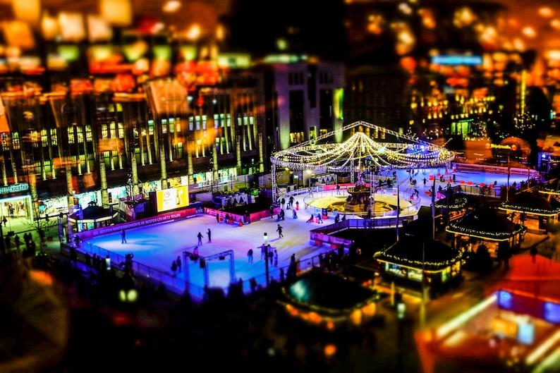 Dusseldorf Arch Christmas Market Photo Print on Canvas image 0