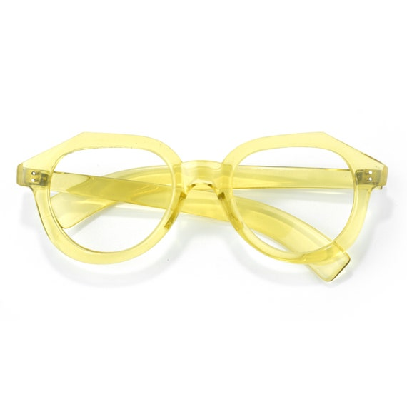 1930s French vintage crystal yellow