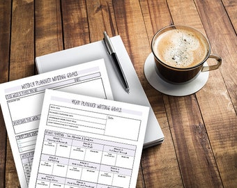 Writing Goal Planner   Printables   Writing Prompts