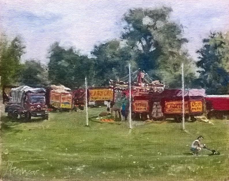 Setting Up Carters Steam Fair Peckham Rye Oil On Canvas Etsy