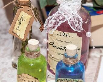 Harry Potter Themed Potion Bottles - Set Of Four