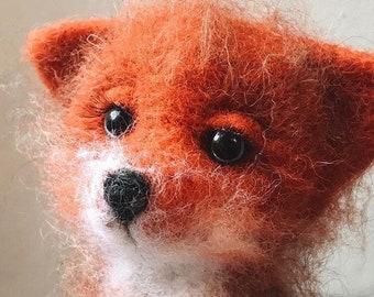 Cute fox toy felted interior toy
