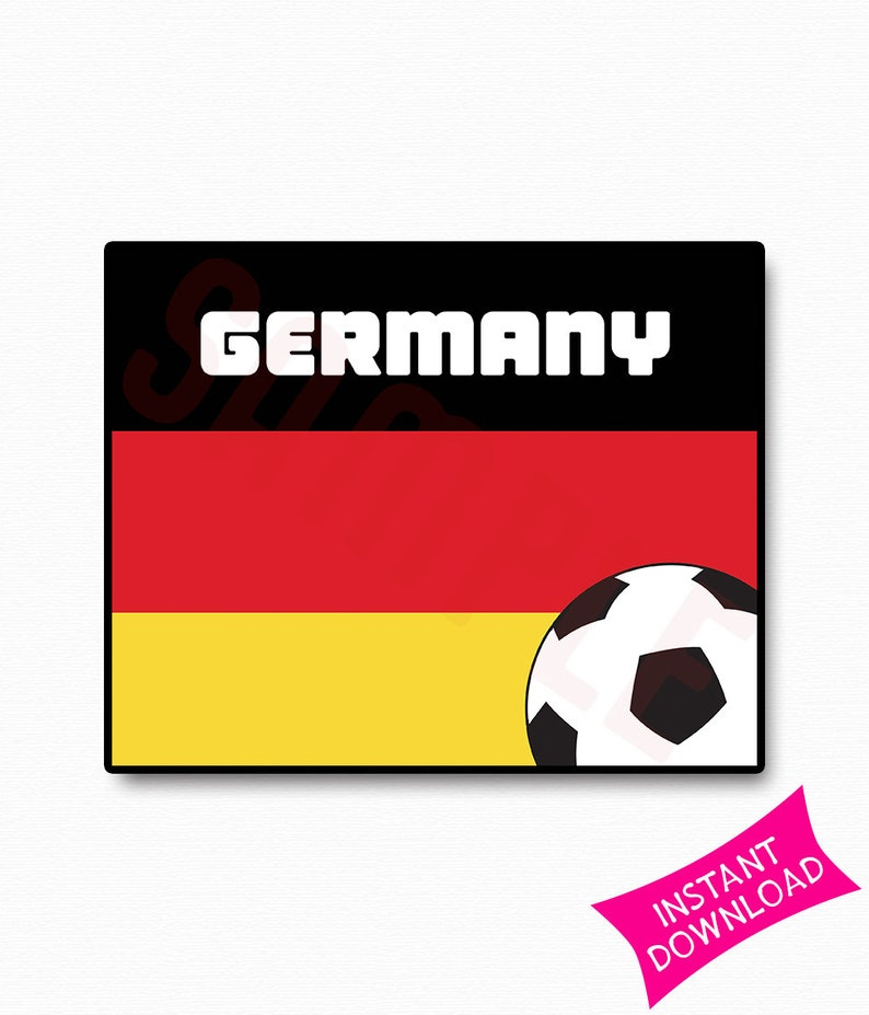 picture about Printable German Flag identify Germany Flag Worldwide Cup 2018 Occasion Printable Signal Template Wall Artwork Print Soccer Poster Property Decor Presents