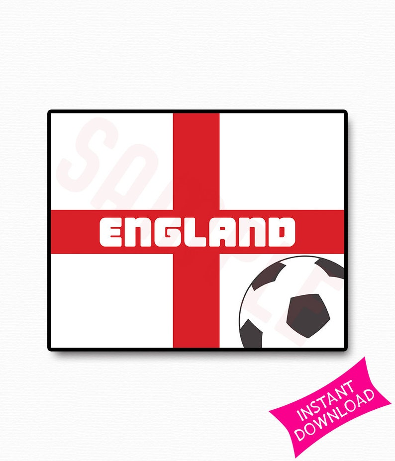 picture relating to Printable England Flag named England Flag International Cup 2018 Occasion Printable Signal Template Wall Decor Print Soccer Poster Property Decor Presents