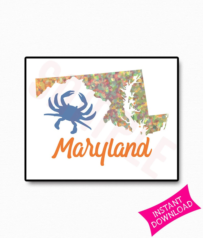 image about Crab Printable named Maryland Blue Crab Printable Blue Crab Artwork Sea Daily life