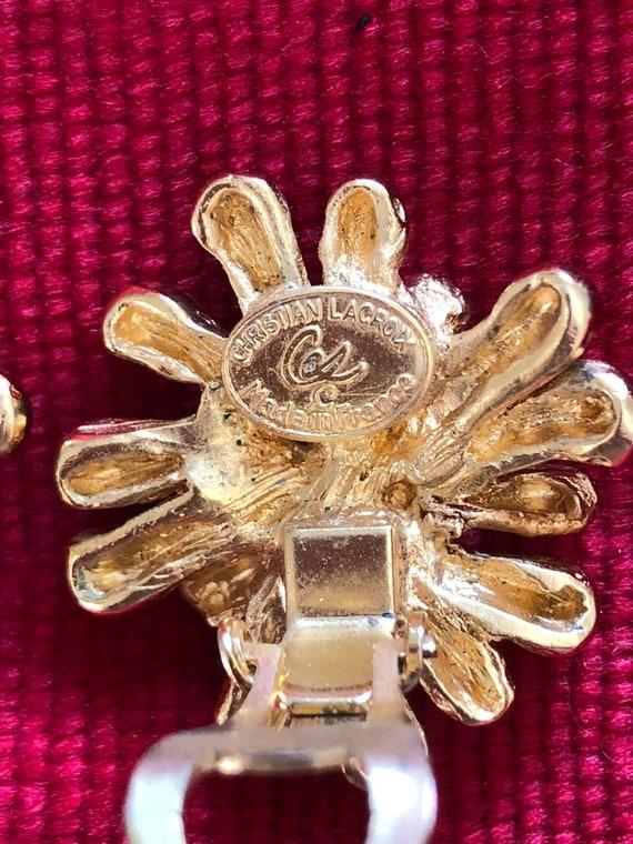 Christian Lacroix vintage earrings - image 4