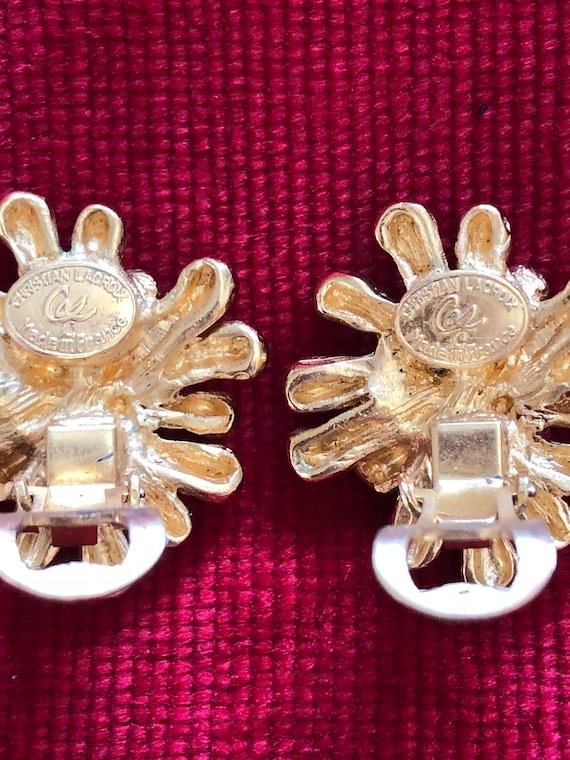 Christian Lacroix vintage earrings - image 5