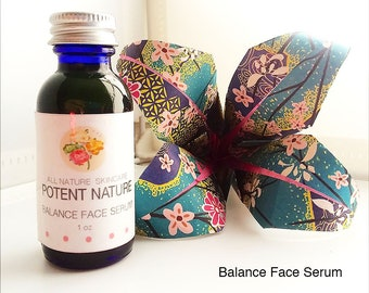Balance Face Serum, homemade, co-created with Nature intelligiences, balancing all skin types, combination skin face oil, pure, homemade