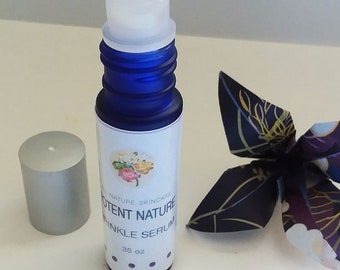 Wrinkle Serum, Potent Nature, All Nature Skincare, Violet Leaf Absolute, Vitamin E, effective oil and essential oil blend roll on, anti-age