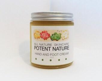 Hand & Foot Cream, Potent Nature, All Nature Skincare, Co-creative with Nature Intelligiences, Magnesium Mineral Cream, nourishing, protect