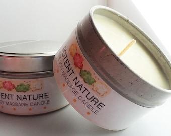 Fire Soy Massage Candle, strong emollient, Potent Nature, All Nature Skincare, massage lotion, skin moisturizer, digestive,spiritual balance