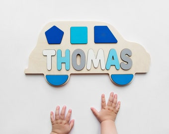 1st Birthday Gift Name Puzzle Personalized Personalized Name Wood Puzzle Handmade Toy Boy Newborn Girl Baby Gift Custom Name Baby Busy Board