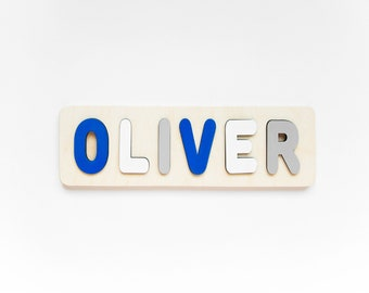 1st Birthday Gift Personalized Name Puzzle Full Name Personaziled Toy Baby Name Wooden custom name puzzle First Birthday Gift Busy Board