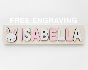 1st Birthday Personalized Name Puzzle Name Personaziled Toy Personalized Baby Name Wooden custom name puzzle First Birthday Gift Busy Board