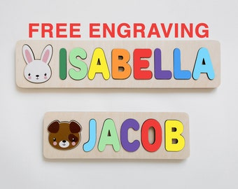 1st Birthday Gift Personalized Name Puzzle Name Personaziled Toy Personalized Baby Name Wooden custom name puzzle First Birthday Gift