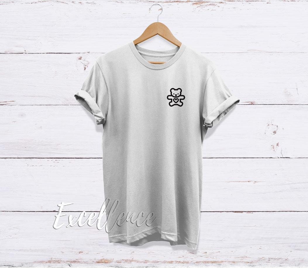Ours peluche en peluche Ours T-Shirt, ours en peluche cadeau, haute qualité jamais décoloration unisexe adultes T shirt imprimé - EXCELLENCE a0b685
