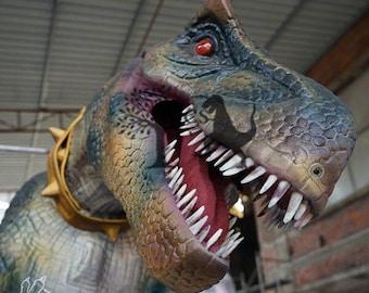 Lifelike Animatronic Dinosaur Costume In Festival Parade Event