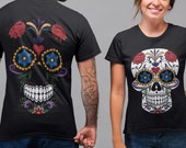 DAY OF THE dead gift dia de los muertos sugar skull clothing calavera gift, All saints 39 day human skull spanish shirt costume, All souls day